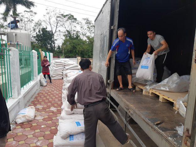Фильтровальная загрузка для получения чистой воды, ДИАМИКС Аква, работает во Вьетнаме